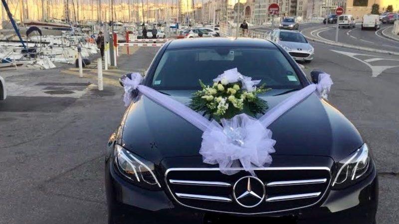 Chauffeur-driven car rental for wedding