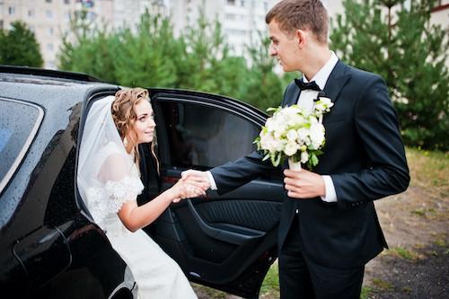 Voiture avec chauffeur pour mariage